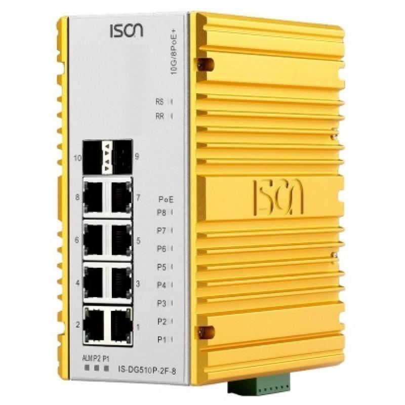سوئیچ صنعتی آیسون ISON IS-DG510P-2F-8 Managed Ethernet Switch